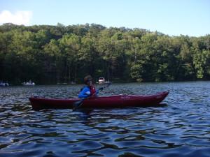 Photo of Marcia Moran Kayaking